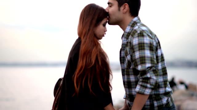 Young Turkish couple at Kadikoy Istanbul video
