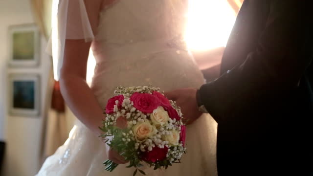 Young wedding couple video