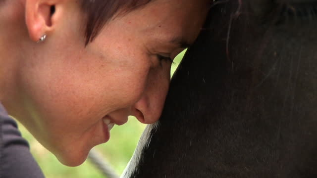 HD: Young Woman And A Horse video