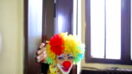 Young woman as clown. video