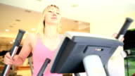 Young Woman At Fitness Center video