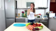 Young Woman Dancing In The Kitchen video