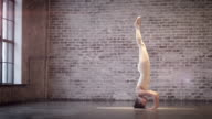 Young Woman Doing Yoga Meditation and Stretching Exercises video
