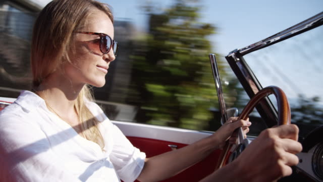 Young woman driving video