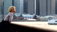 Young woman enjoying the view of New York City video