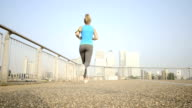 Young woman exercising video