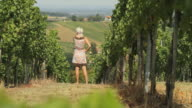 HD DOLLY: Young Woman In A Vineyard video