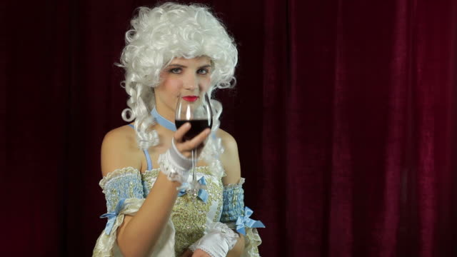 Young woman in baroque style costume video
