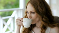 Young woman making tea video