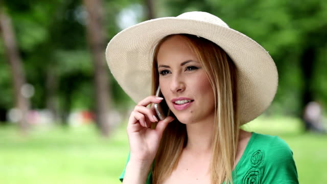 Young Woman on Cellphone II video