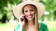 Young Woman on Cellphone video