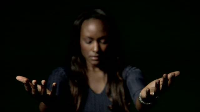 HD Young Woman Praying video