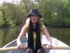 Young woman rowing video