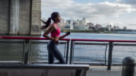 Young Woman running in New York video