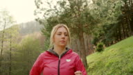 Young Woman Running video