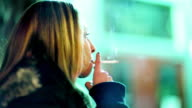 Young Woman Smoking video