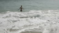 Young woman swimming in the Black Sea video