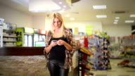 Young woman texting video