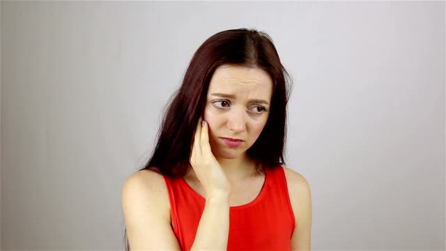 Young woman with toothache. Tooth Pain video