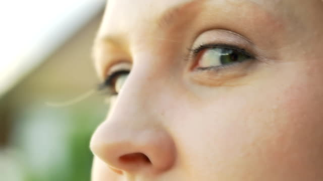 HD SLOW MOTION: Young Woman's Eyes video