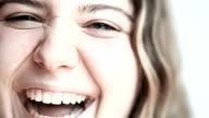 HD: Young Women Laughing - Macro video