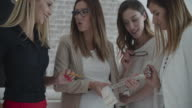 Young Women Only Creative Business Brainstorming In Their Office video