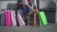Young women shopping video