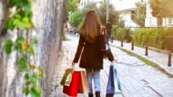 HD: Young women walking back home video