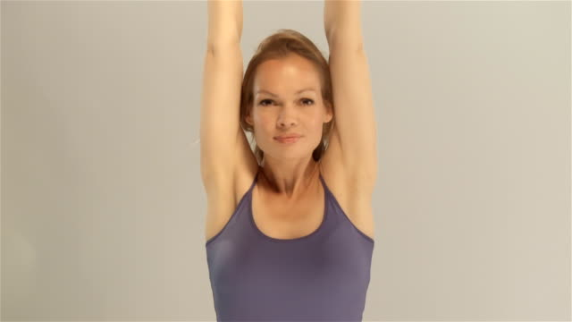 Young women while working out video