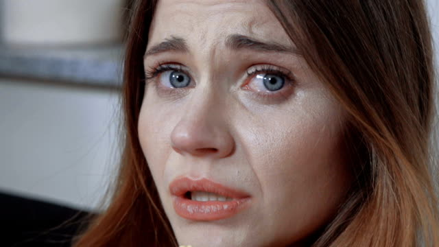 Young women with a nervous breakdown, crying. video