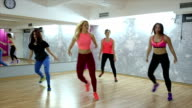 Young women working out for better gluteus at the gym video
