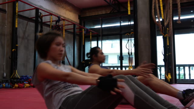 Young Women workout at Gym video