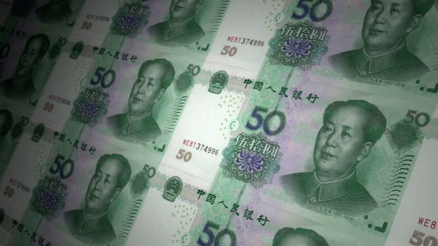 50 yuan Chinese local currency paper money video