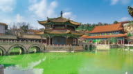 Yuantong temple or Golden temple at Kunming China video
