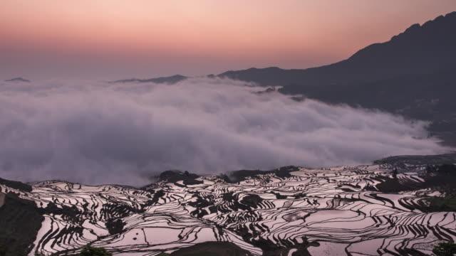 Yuanyang rice terraces sunrise timelapse - part1 video