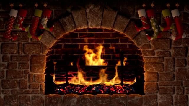 Yule Log. Christmas symbol. video
