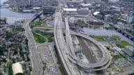 Zakim Bunker Hill Bridge  - Aerial View - Massachusetts,  Suffolk County,  United States video
