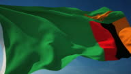 4K Zambia Flag - Loopable video