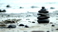 Zen Style Stones by the Sea video