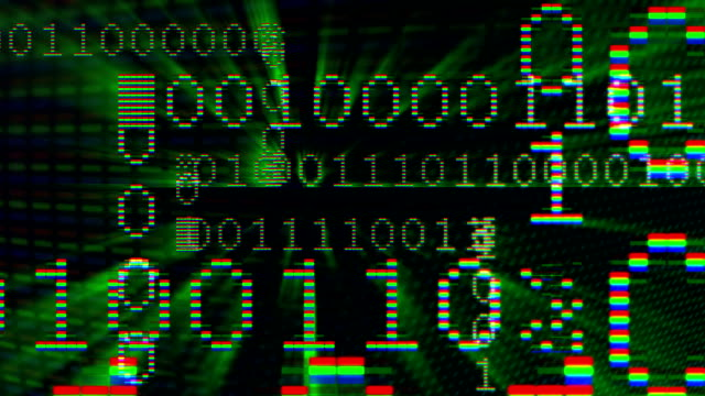 Zero and one digital data sequence video