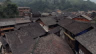 Zhaoxing traditional dong town in Guizhou China Aerial view video