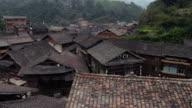 Zhaoxing traditional dong town in Guizhou China Aerial view video