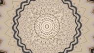 Zigzag circle kaleidoscopic pattern. video