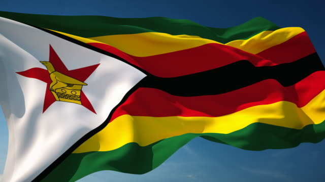4K Zimbabwe Flag - Loopable video