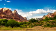 Zion National Park time lapse video.  Utah, USA. video
