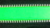 Zipper on green screen. video