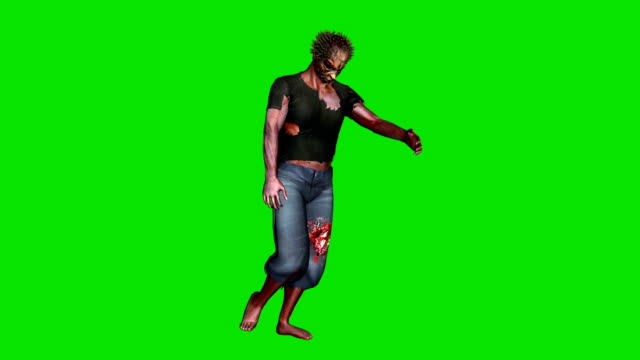 zombie goes - green screen video