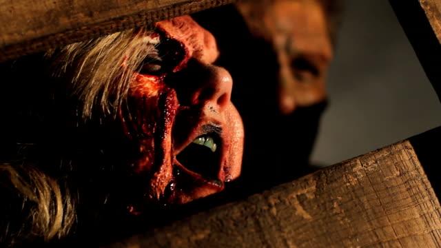zombie monster has flesh hunger video