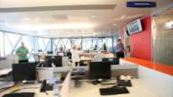 Zombie office or simply sleeping workers video