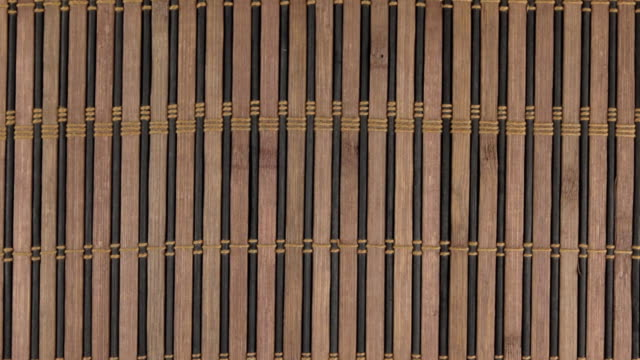 Zoom bamboo mat, background texture for design. video